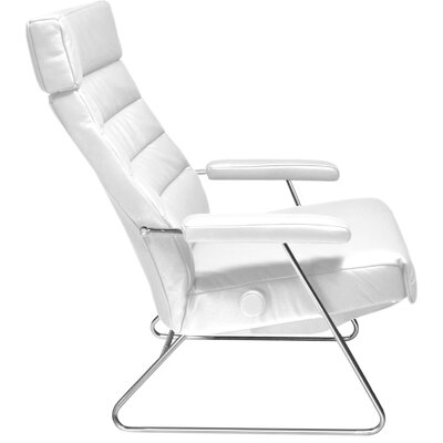 Adele Leather Manual Recliner Upholstery: White