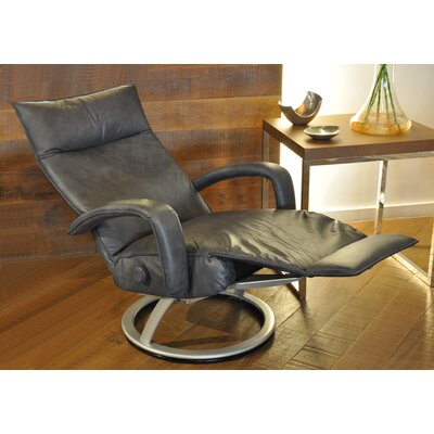 Gaga Leather Manual Swivel Recliner