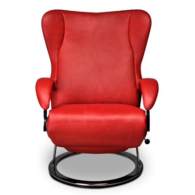 Diva Leather Manual Swivel Recliner Upholstery: Mint