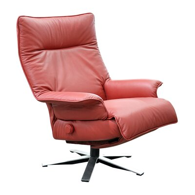 Valentina Leather Ergonomic Recliner Upholstery: Sandalwood