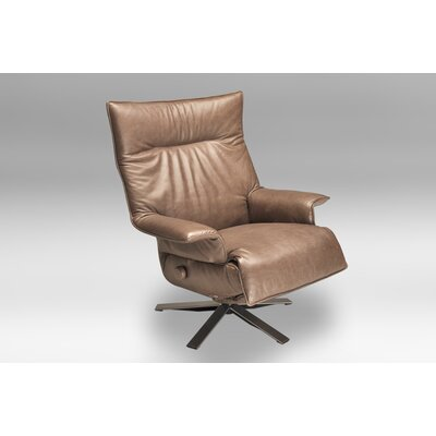 Valentina Leather Ergonomic Recliner Upholstery: Mink