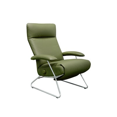 Demi Leather Ergonomic Recliner Upholstery: Canary