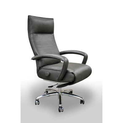 Gaga High-Back Leather Executive Chair with Arm Color: Saddle Product Image 4666