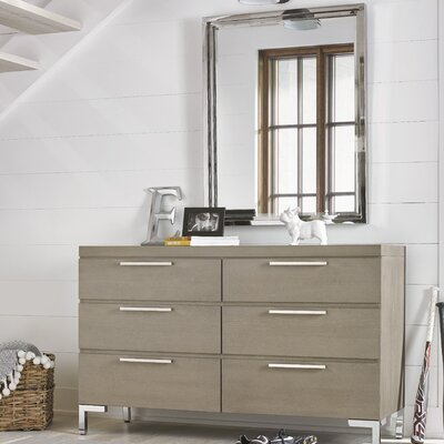 Leland 6 Drawers Double Dresser with Mirror
