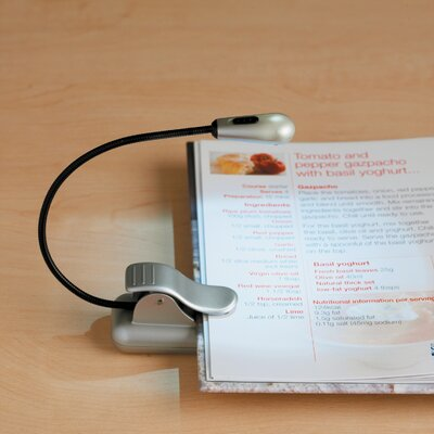 3-Light LED Clamp On Book Lamp