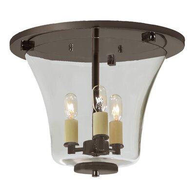 Greenwich 3-Light Semi Flush Mount Finish: Oil Rubbed Bronze