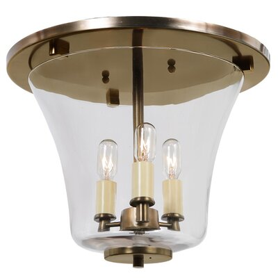Greenwich 3-Light Semi Flush Mount Finish: Rubbed Brass