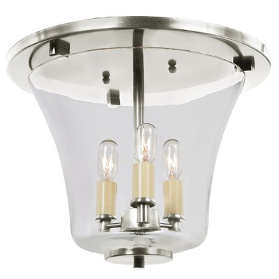 Greenwich 3-Light Semi Flush Mount Finish: Pewter