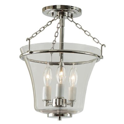 Greenwich 3-Light Semi Flush Mount Finish: Polished Nickel