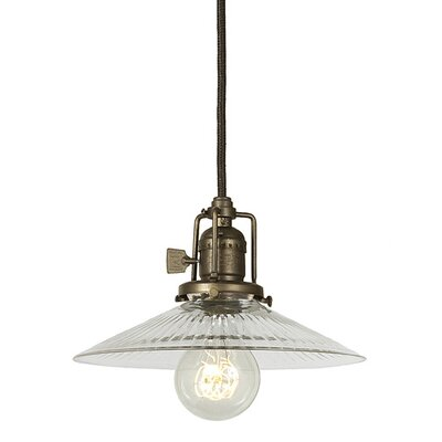 Edgar Contemporary 1-Light Clear Glass Mini Pendant Finish: Oil Rubbed Bronze