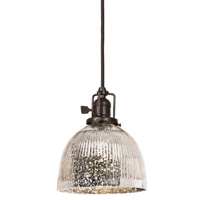 Edgar 1-Light Bowl Glass Mini Pendant Finish: Oil Rubbed Bronze