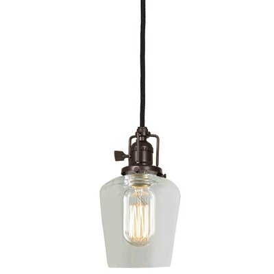 Edgar 1-Light Clear Glass Mini Pendant Finish: Oil Rubbed Bronze