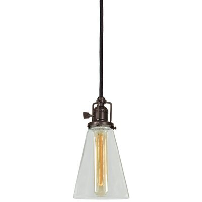 Edgar 1-Light Blown Glass Mini Pendant Finish: Oil Rubbed Bronze