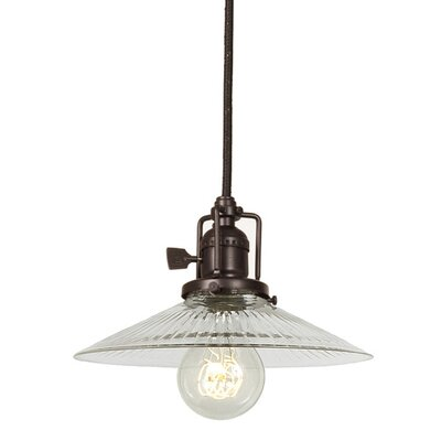 Edgar 1-Light Cone Clear Glass Mini Pendant Finish: Oil Rubbed Bronze