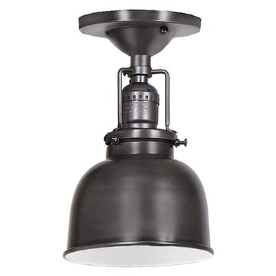 Edgar 1-Light Metal Semi Flush Mount Finish: Gun Metal