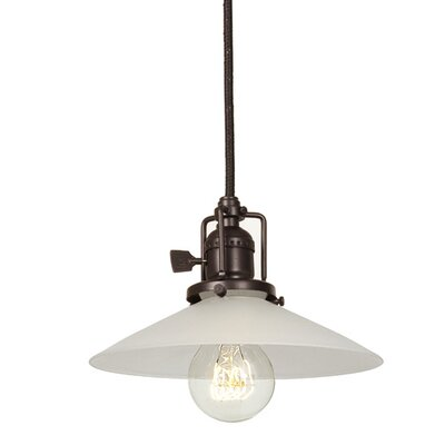 Edgar 1-Light Cone Glass Mini Pendant Finish: Oil Rubbed Bronze