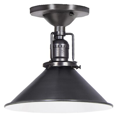 Edgar Modern 1-Light Metal Semi Flush Mount Finish: Gun Metal
