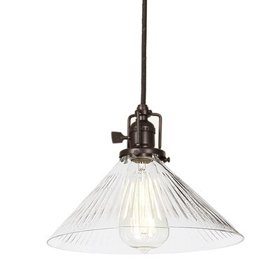 Edgar 1-Light Clear Glass Indoor Mini Pendant Finish: Oil Rubbed Bronze