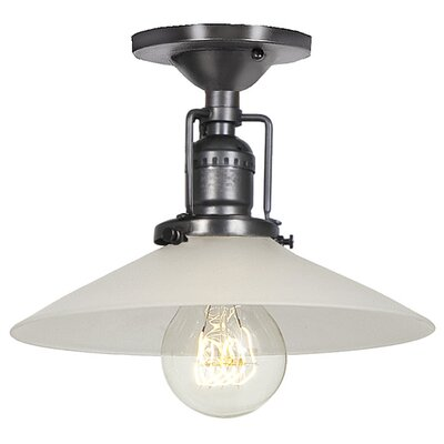 Union Square 1-Light Semi Flush Mount Finish: Gun Metal
