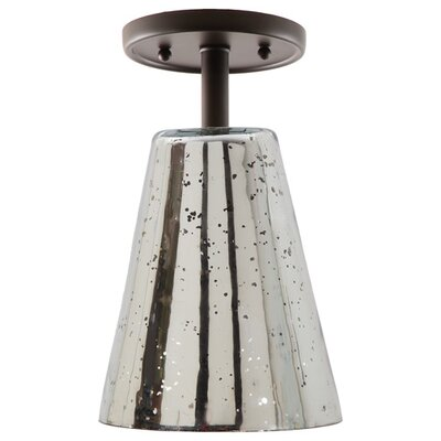 Grand Central 1-Light Semi Flush Mount Finish: Oil Rubbed Bronze, Size: 10 H x 6 W