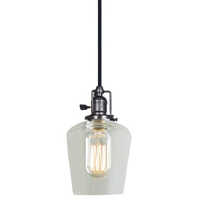 Edgar 1-Light Abstract Mini Pendant Finish: Gun Metal