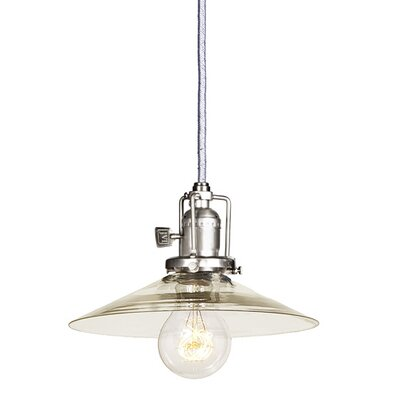 Edgar Modern 1-Light Clear Glass Mini Pendant Finish: Pewter