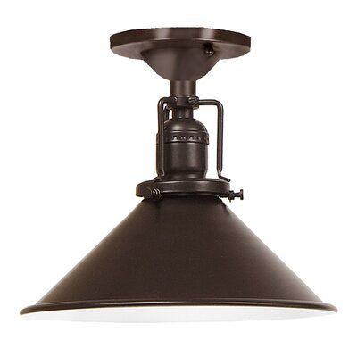 Edgar Modern 1-Light Metal Semi Flush Mount Finish: Oil Rubbed Bronze