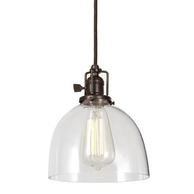 Edgar 1-Light Bowl Mini Pendant Finish: Oil Rubbed Bronze