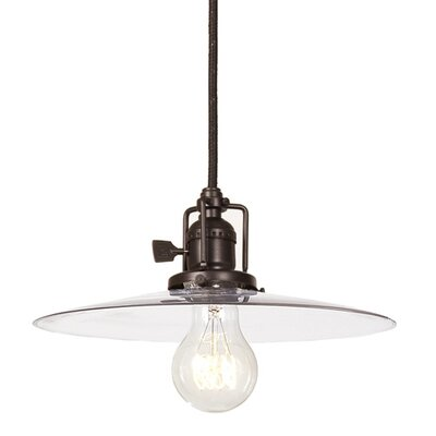 Edgar Contemporary 1-Light Cone Mini Pendant Finish: Oil Rubbed Bronze