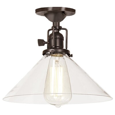 Union Square 1-Light Semi Flush Mount Finish: Oil Rubbed Bronze