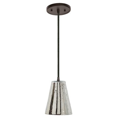 Grand Central 1-Light Mini Pendant Finish: Oil Rubbed Bronze, Size: 10 H x 7.5 W