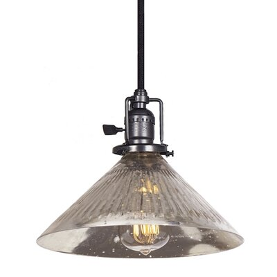 Edgar 1-Light Antique Mercury Glass Mini Pendant Finish: Gun Metal