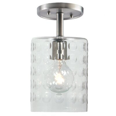 Grand Central 1-Light Semi Flush Mount Finish: Pewter