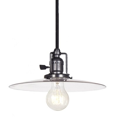 Edgar 1-Light Cone Mini Pendant Finish: Gun Metal