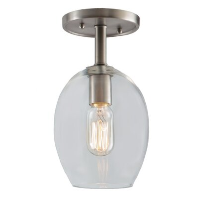 Grand Central 1-Light Semi Flush Mount Finish: Polished Nickel