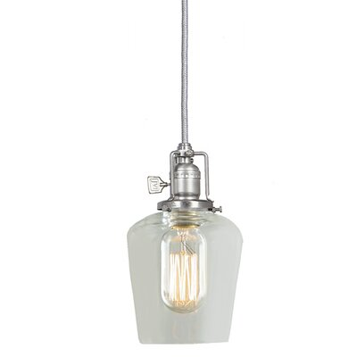 Edgar 1-Light Abstract Mini Pendant Finish: Pewter