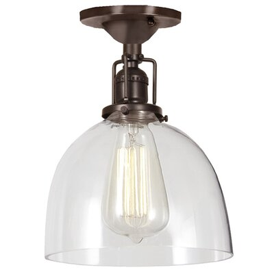 Edgar Modern 1-Light Semi Flush Mount Finish: Oil Rubbed Bronze