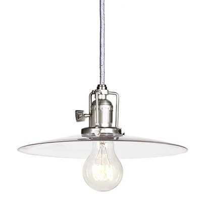 Edgar Contemporary 1-Light Cone Mini Pendant Finish: Pewter