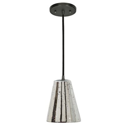 Grand Central 1-Light Mini Pendant Size: 10 H x 7.5 W, Finish: Gun Metal