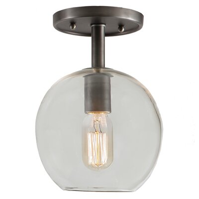 Grand Central 1-Light Semi Flush Mount Finish: Gun Metal