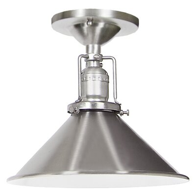 Edgar Modern 1-Light Metal Semi Flush Mount Finish: Pewter