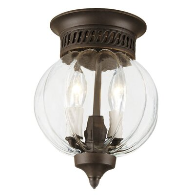 Melon 2-Light Small Flush Mount Finish: Pewter