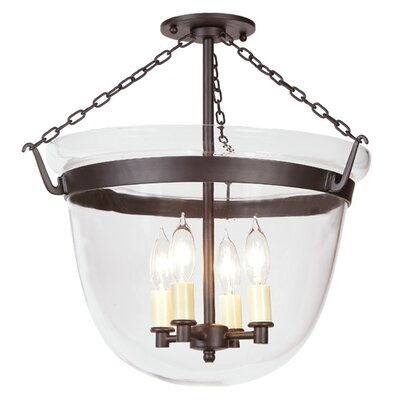 Large Bell 4-Light  Foyer Pendant Finish: Oil Rubbed Bronze