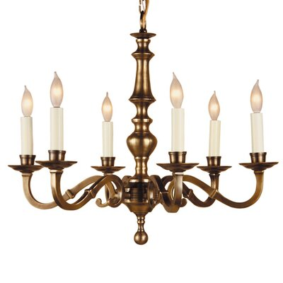 6-Light Candle-Style Chandelier Finish: Weathered Bronze
