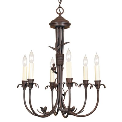 6-Light Candle-Style Chandelier Finish: Rust