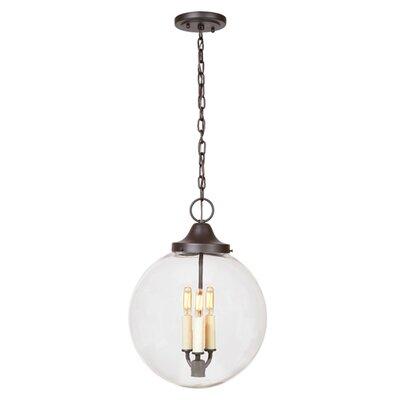 Boston 3 Light Globe Pendant Finish: Polished Nickel