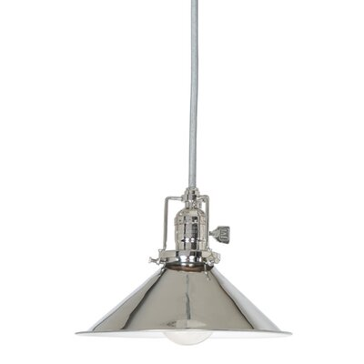 Edgar Contemporary 1-Light Cone Metal Mini Pendant Finish: Polished Nickel