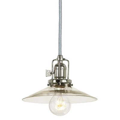 Edgar Contemporary 1-Light Mouth Blown Glass Mini Pendant Finish: Polished Nickel