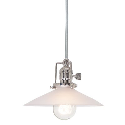 Edgar 1-Light Frosted Shade Mini Pendant Finish: Polished Nickel
