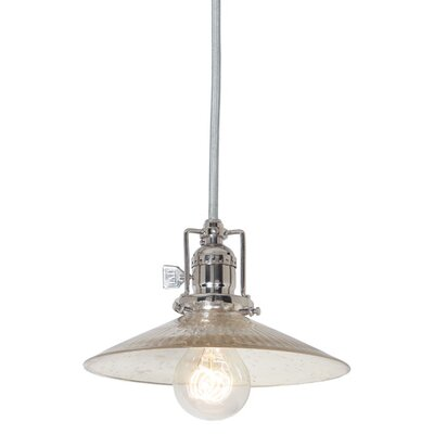 Edgar 1-Light Antique Mercury Mini Pendant Finish: Polished Nickel